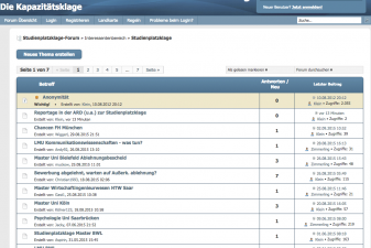 Screenshot Studienplatzklage Forum